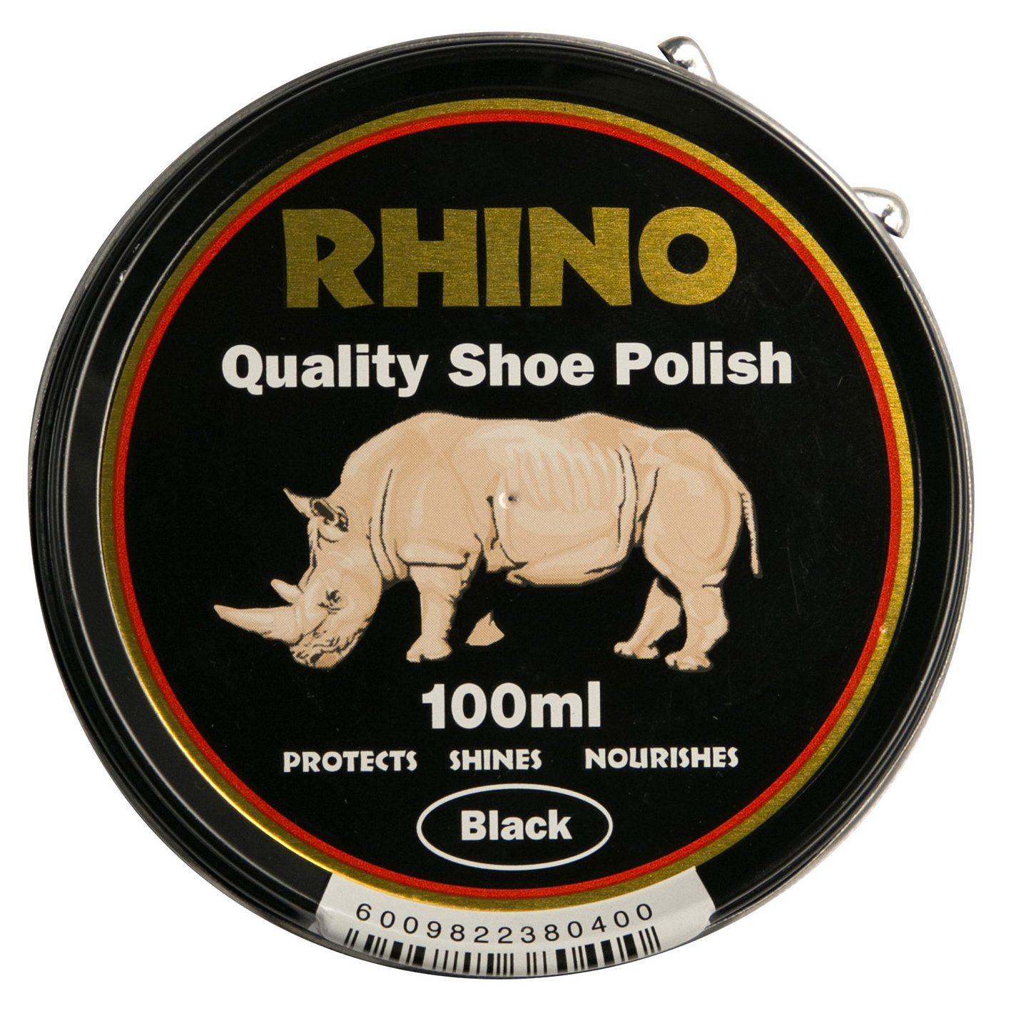 Rhino Shoe Polish Black 100ml