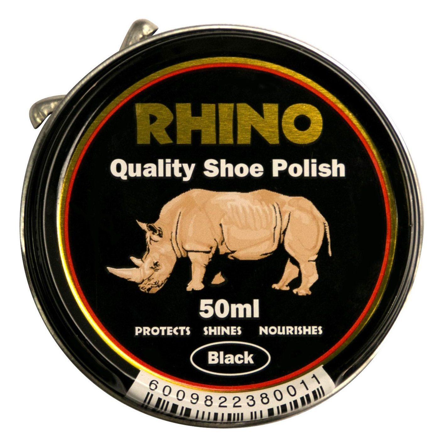 Rhino Shoe Polish Black 50ml