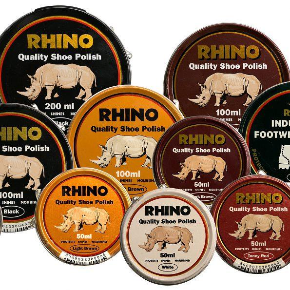 Rhino Shoe Polish Range